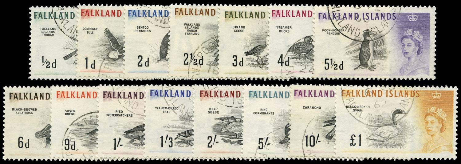 FALKLAND ISLANDS 1960  SG193/207 Used