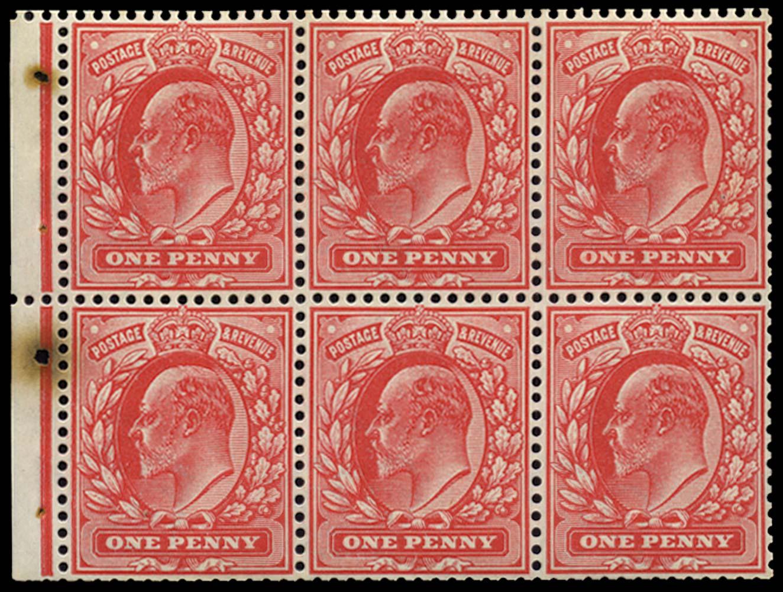 GB 1904  SG219a Booklet pane
