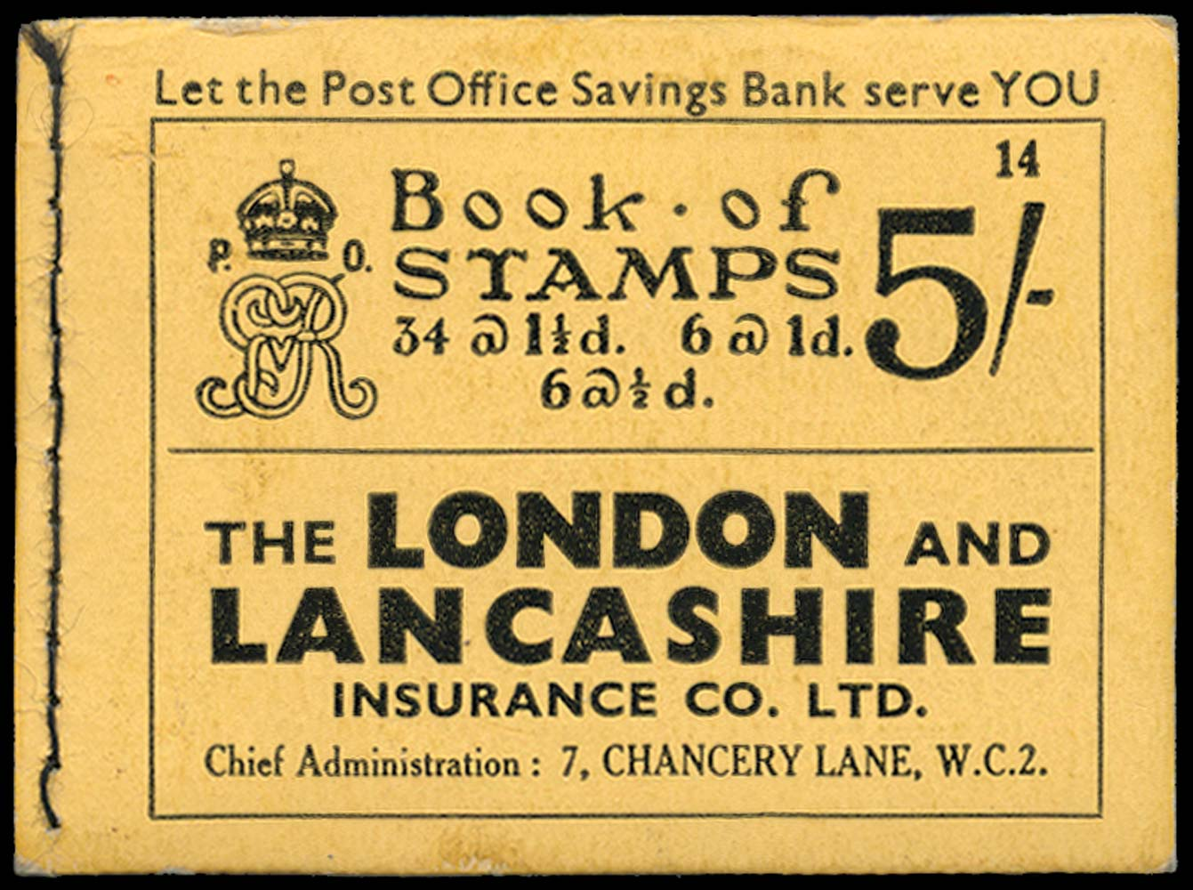 GB 1935  SGBB37 Booklet (Edition No.14)