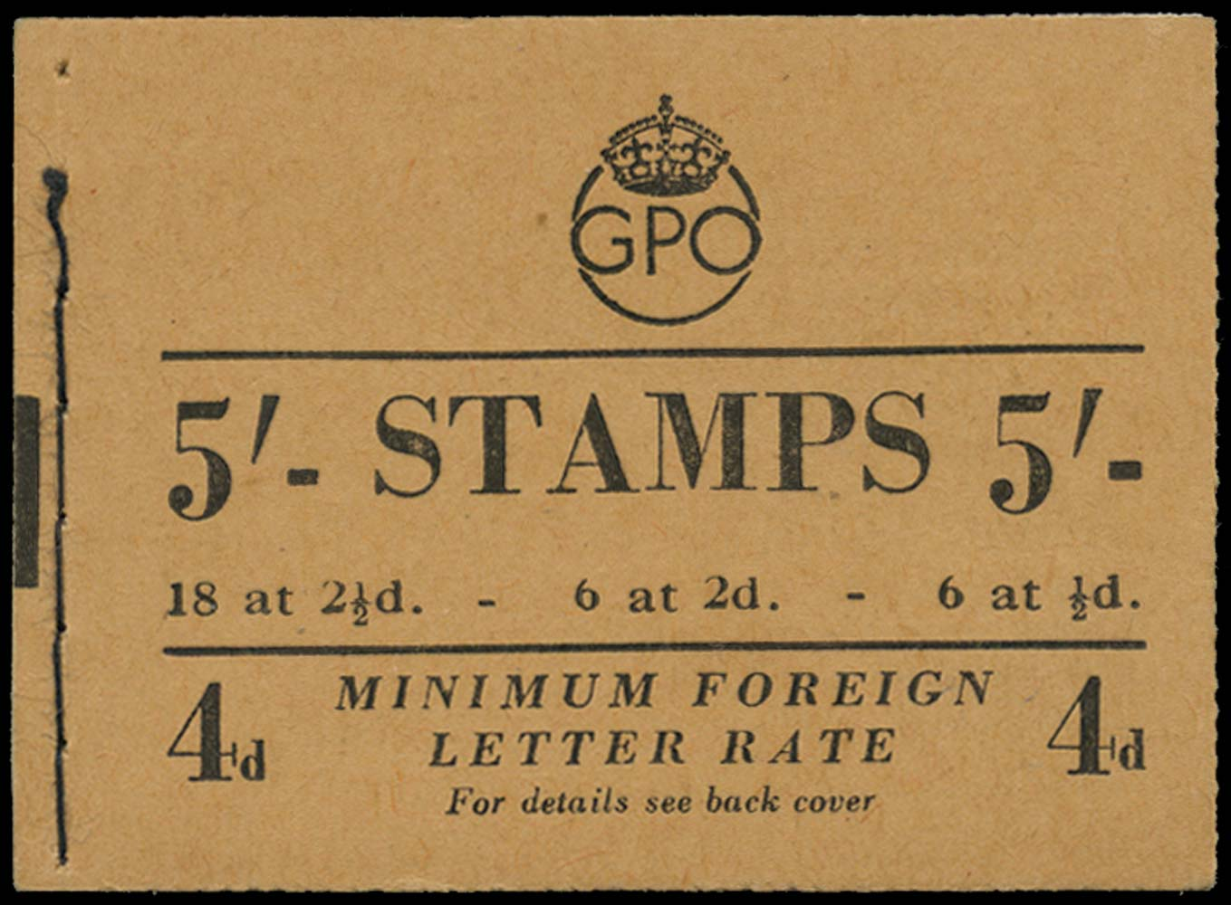 GB 1951  SGBD30 Booklet (September)