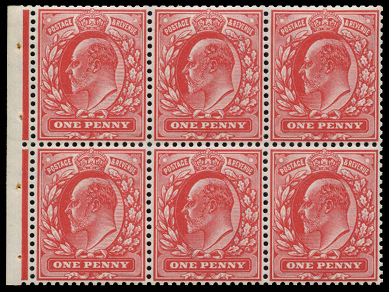 GB 1904  SG219aw Booklet pane