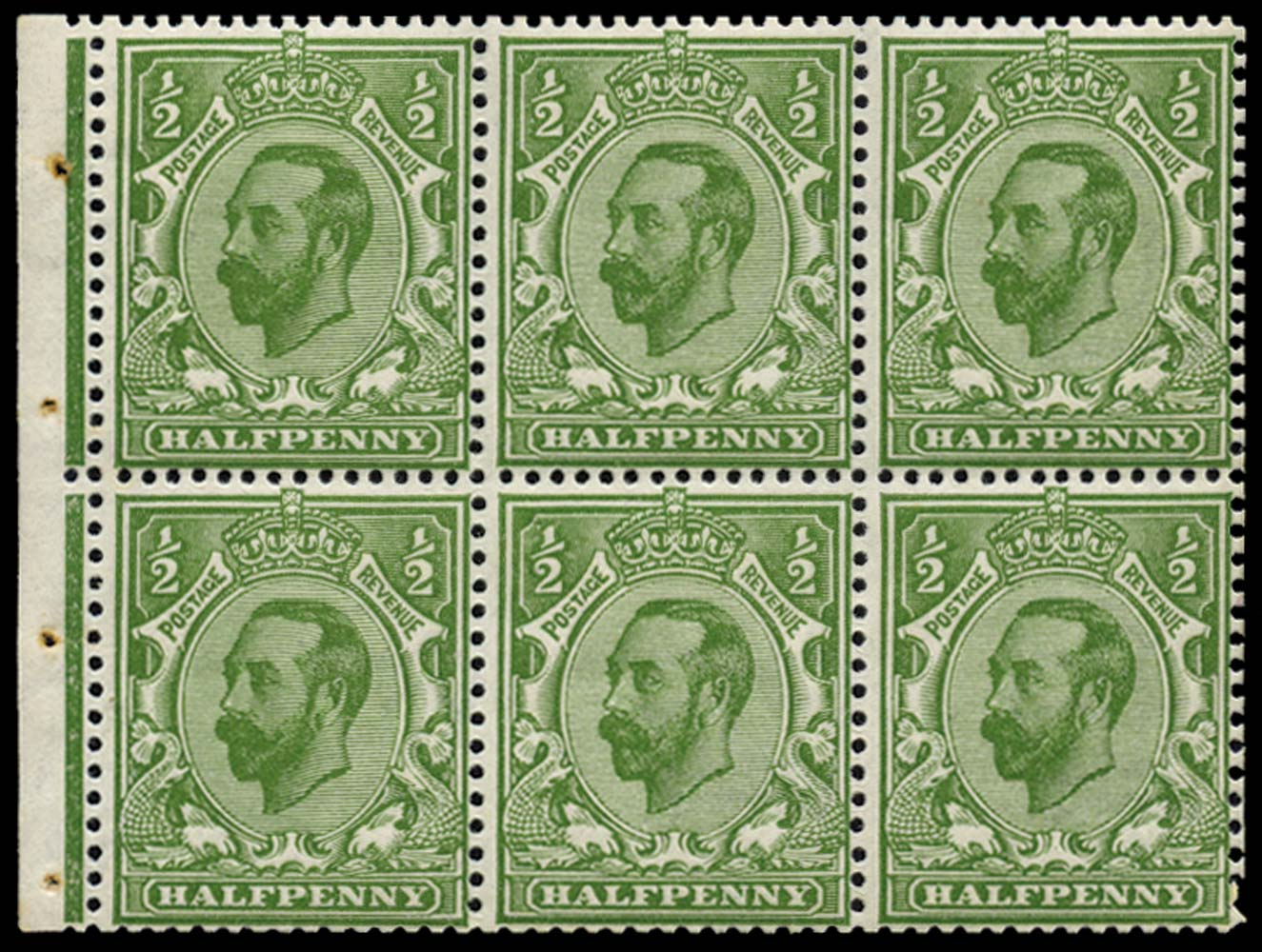 GB 1911  SG324a Booklet pane