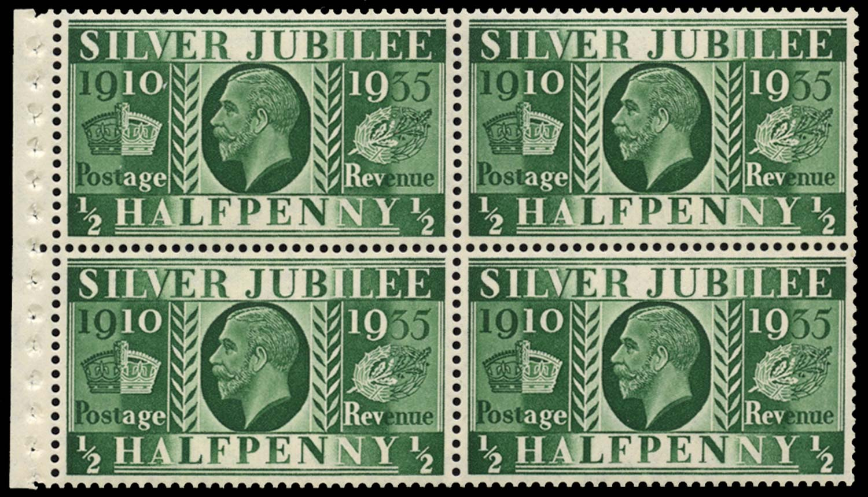 GB 1935  SG453aw Booklet pane