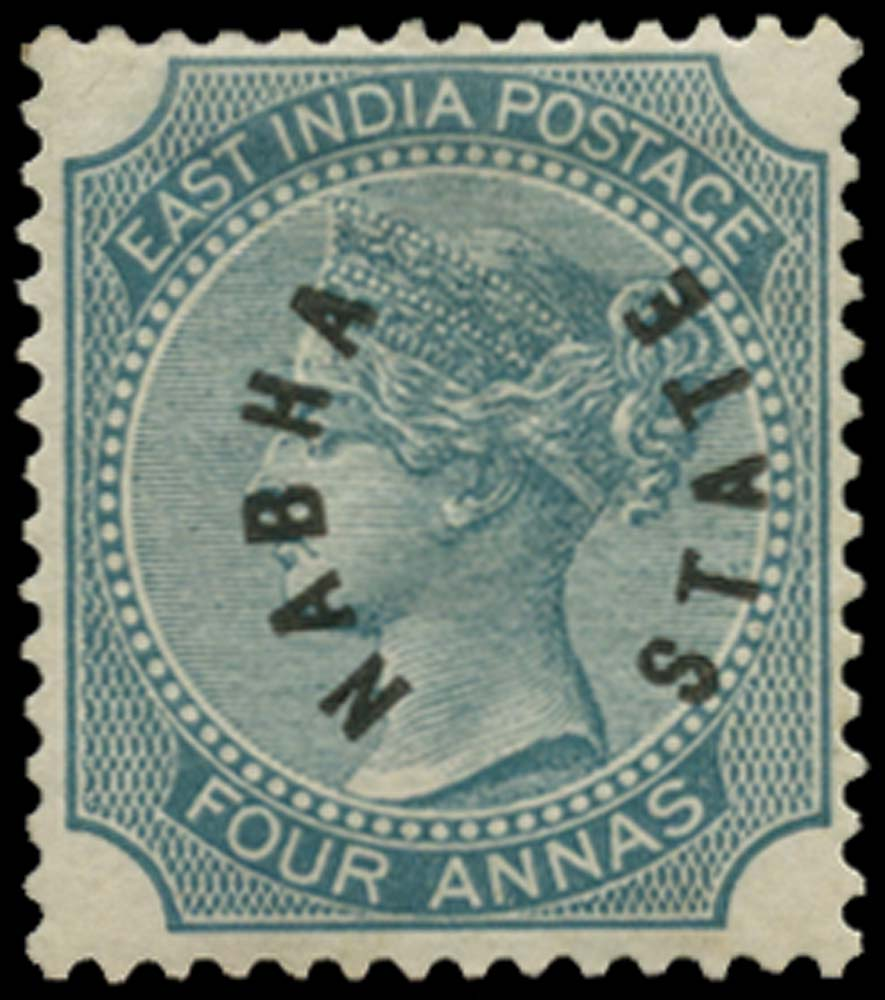 I.C.S. NABHA 1885  SG4 Mint