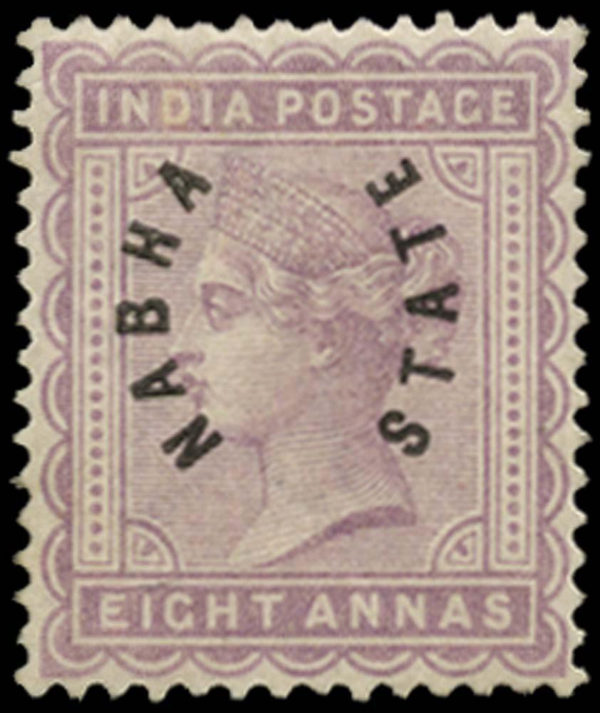 I.C.S. NABHA 1885  SG5 Mint