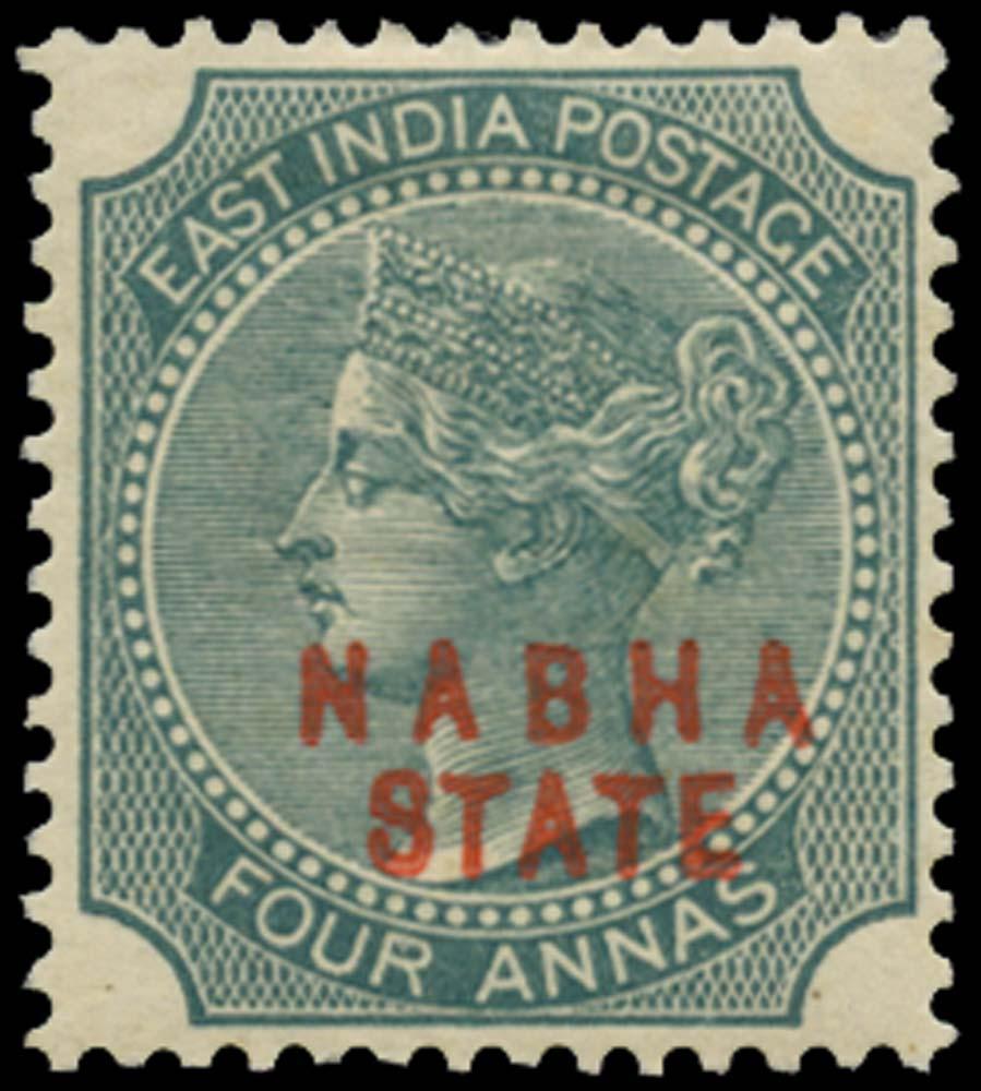 I.C.S. NABHA 1885  SG12 Mint