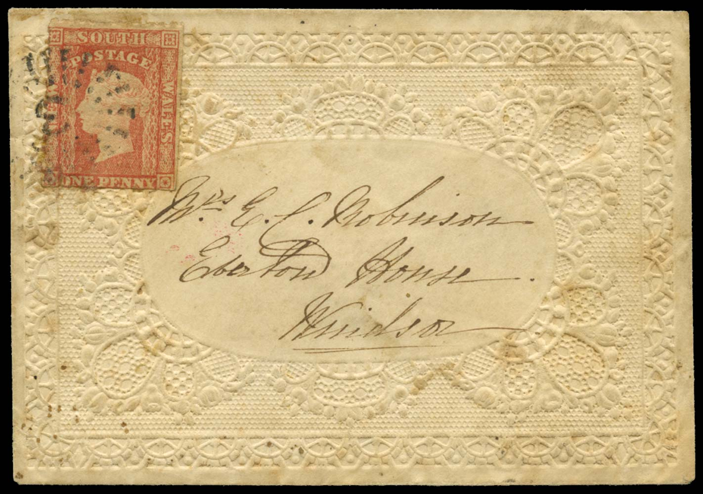 NEW SOUTH WALES 1863  SG155 Cover