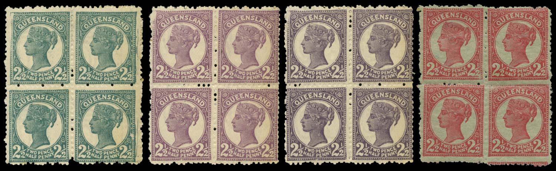 QUEENSLAND 1895  SG213/14 Proof