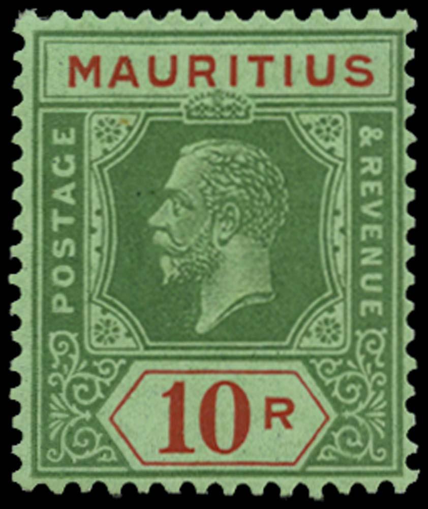 MAURITIUS 1921  SG241 Mint 10r Script watermark