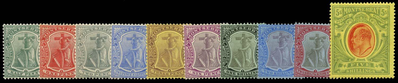 MONTSERRAT 1908  SG35/47 Mint New colours set of 10