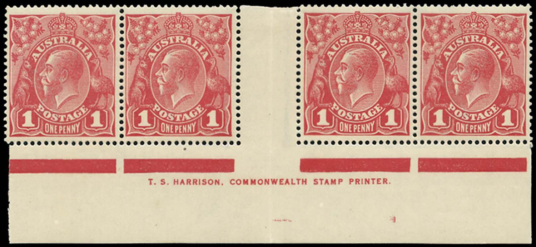 AUSTRALIA 1914  SG21cc/cj Mint