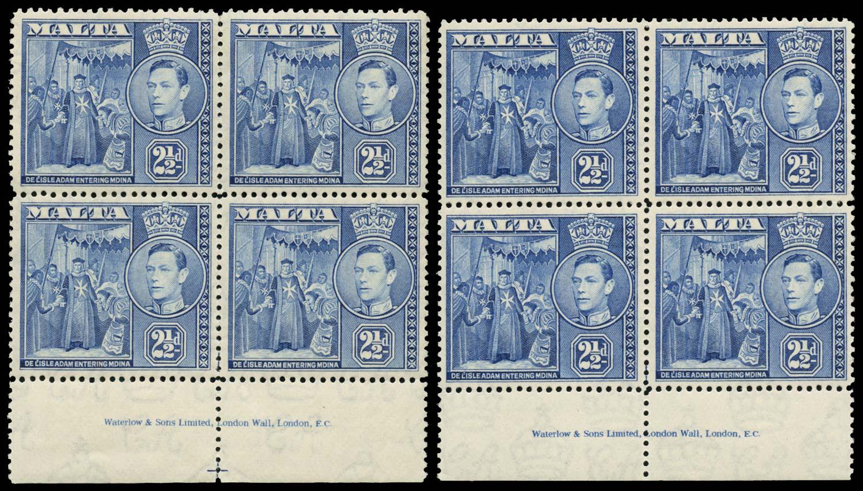 MALTA 1938-43  SG222 Mint