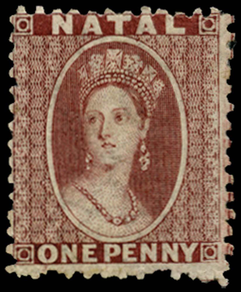 NATAL 1863  SG20 Mint 1d brown-red watermark CC perf 12½