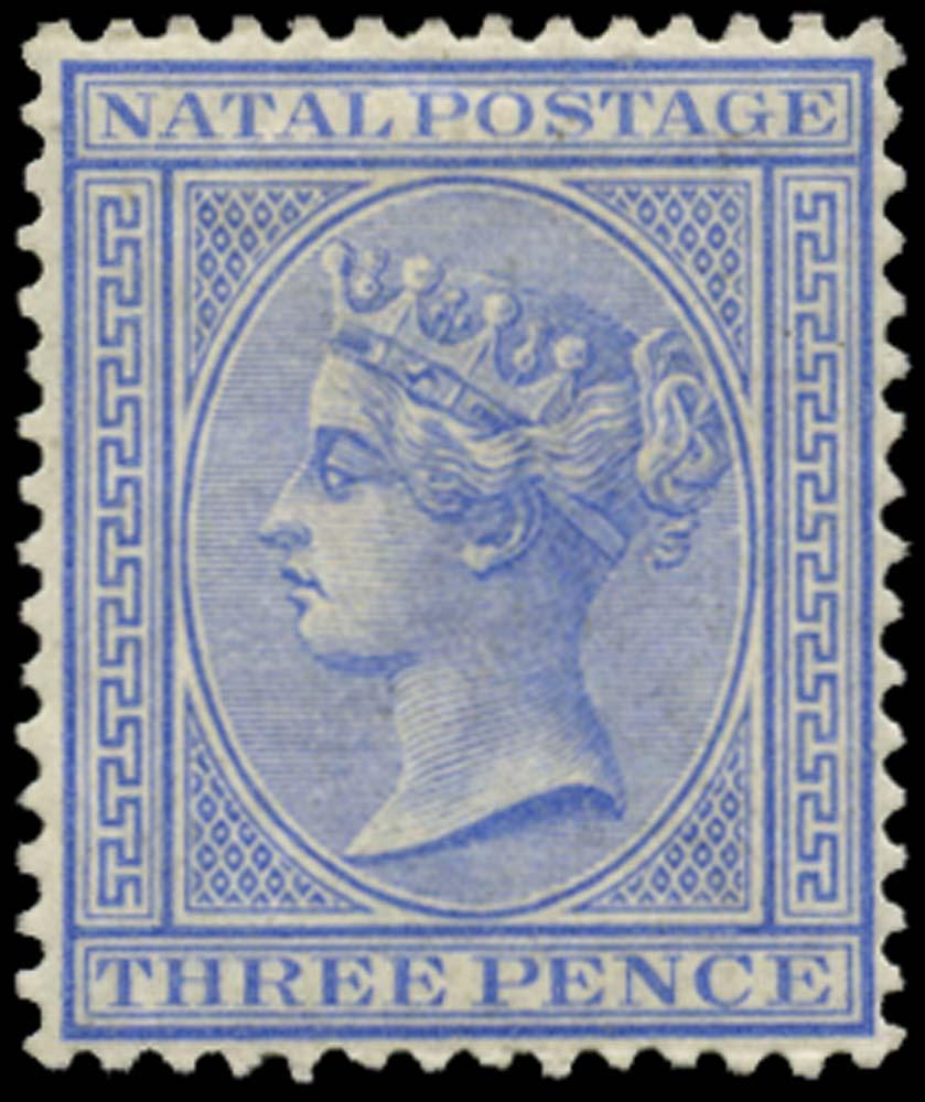 NATAL 1882  SG100 Mint 3d blue watermark CA