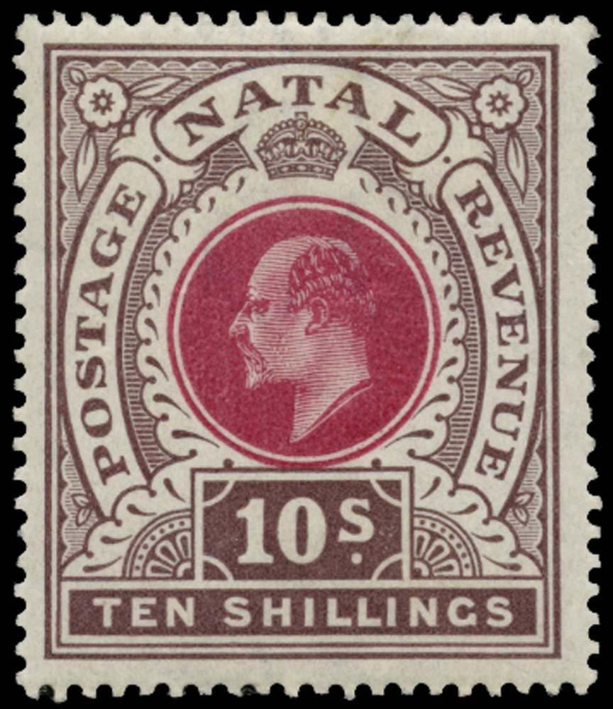 NATAL 1902  SG141 Mint 10s watermark CC