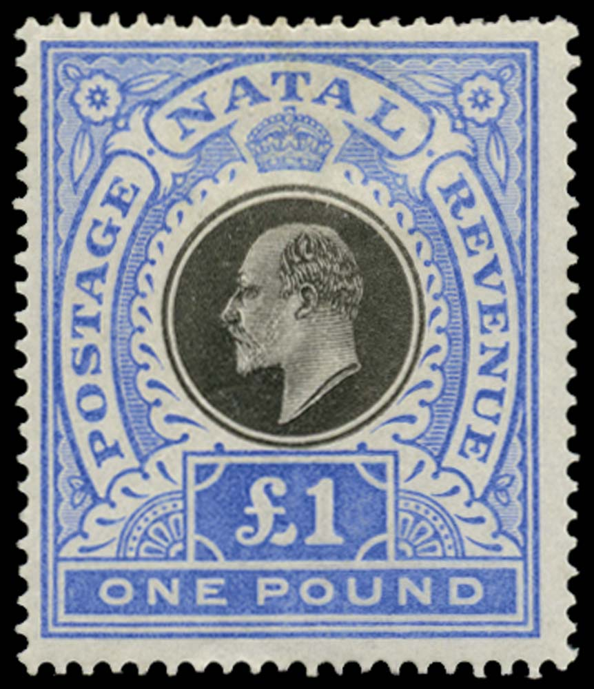 NATAL 1902  SG142 Mint £1 watermark CC