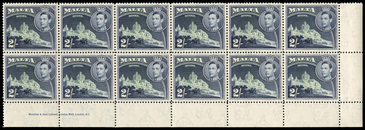 MALTA 1938  SG228 Mint 2s imprint block