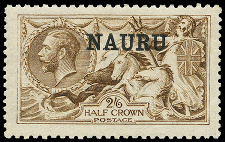 NAURU 1916  SG20 Mint 2s6d yellow-brown De La Rue printing
