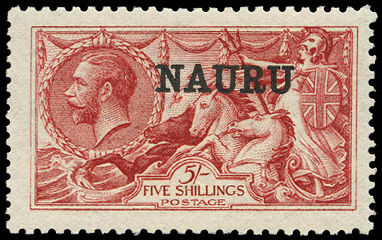 NAURU 1916  SG22 Mint 5s bright carmine De La Rue printing
