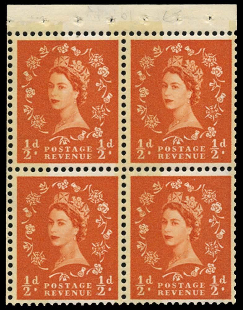 GB 1961  SG610l Booklet pane U/M