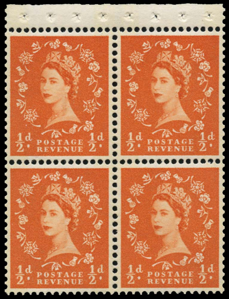 GB 1961  SG610l Booklet pane U/M