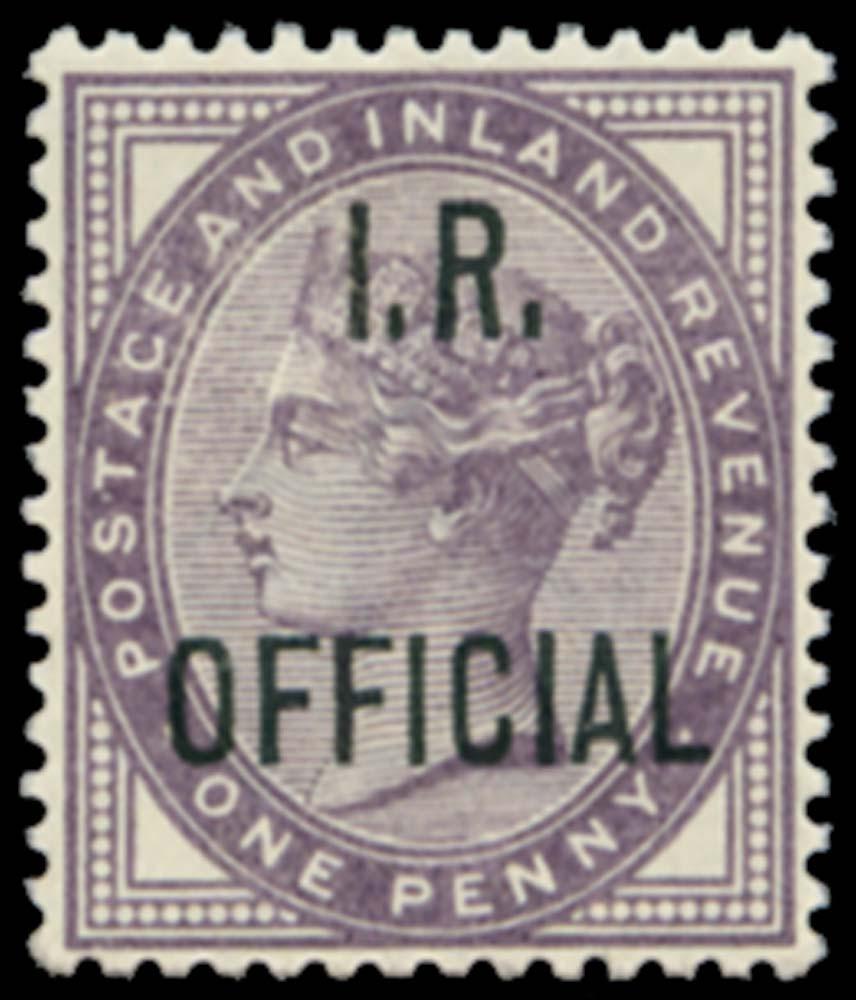 GB 1882  SGO3a Official - Blue-black ovpt. u/m