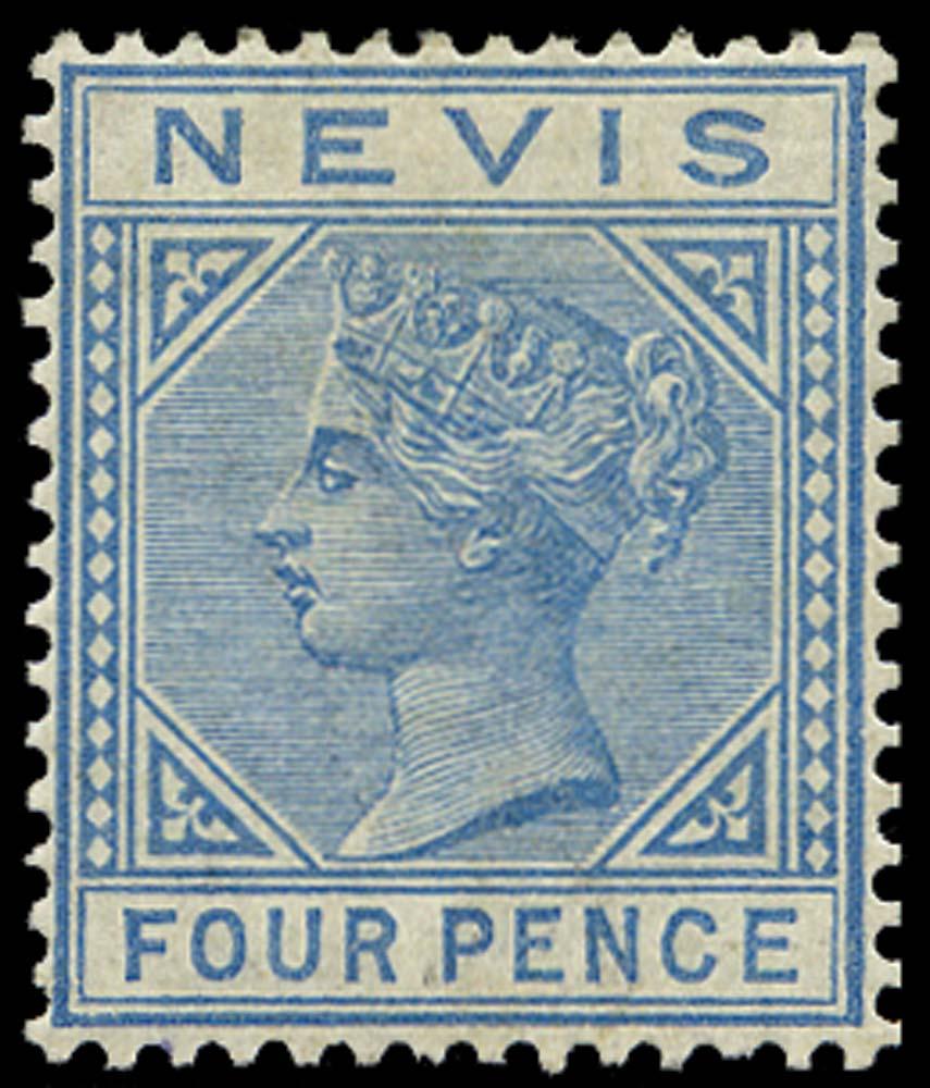 NEVIS 1882  SG30 Mint 4d blue watermark CA