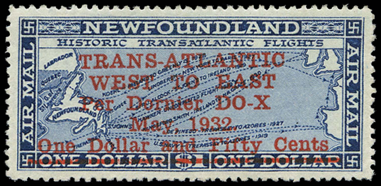 NEWFOUNDLAND 1932  SG221 Mint $1.50 on $1 Dornier