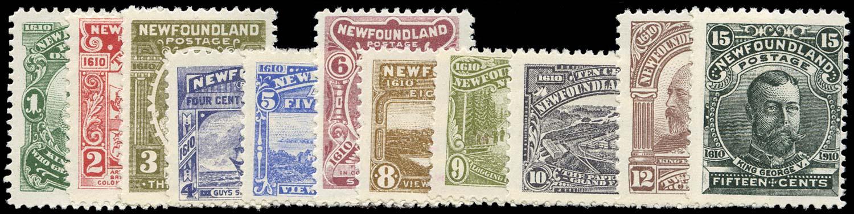 NEWFOUNDLAND 1910  SG95/105 Mint Guy set of 11