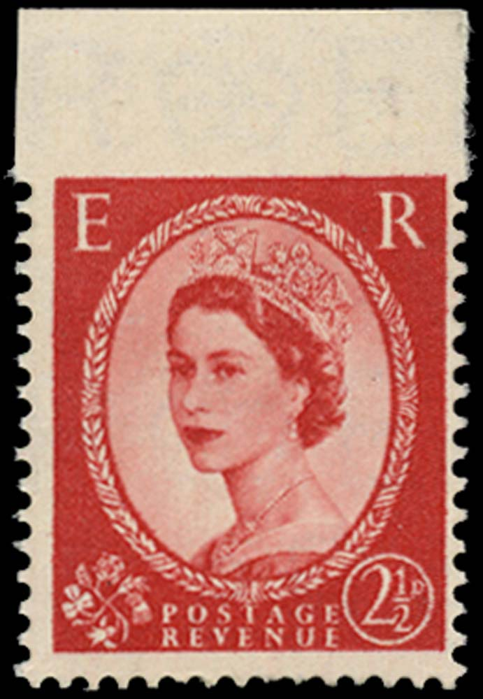 GB 1955  SG544var Mint - Imperf between stamp and top margin