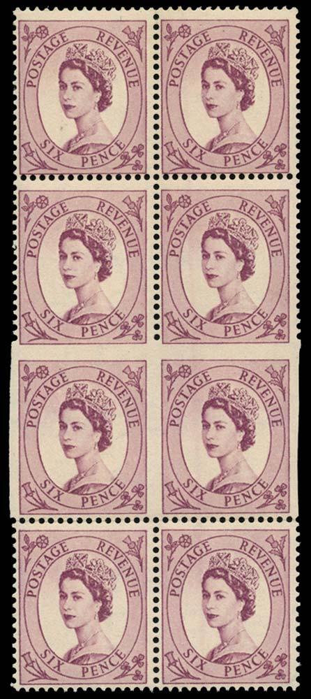 GB 1955  SG548aa Mint - Imperf three sides