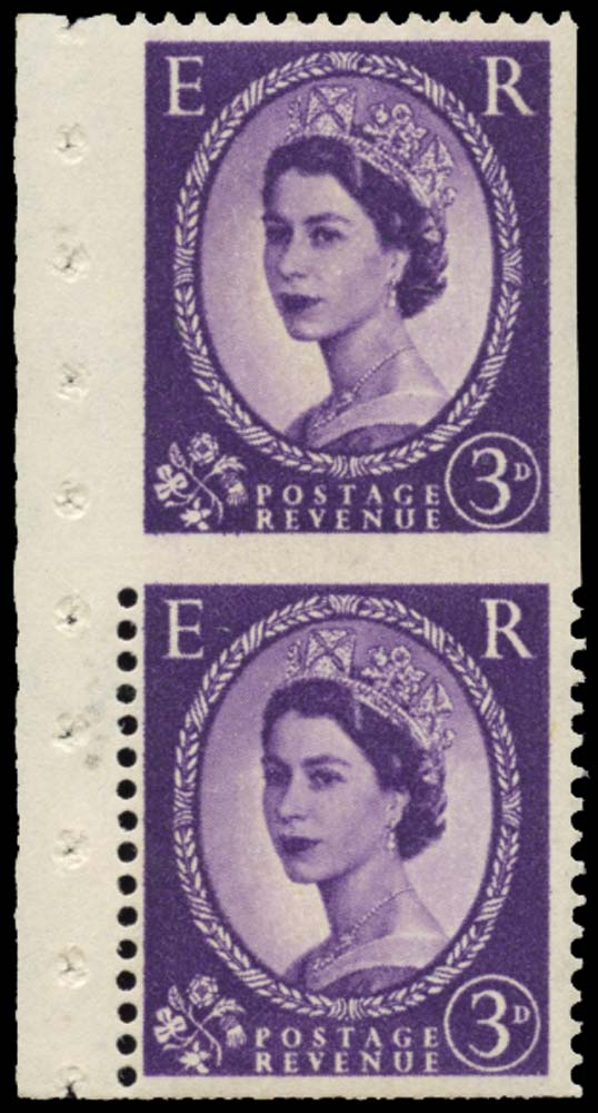 GB 1958  SG575var Mint - imperf three sides