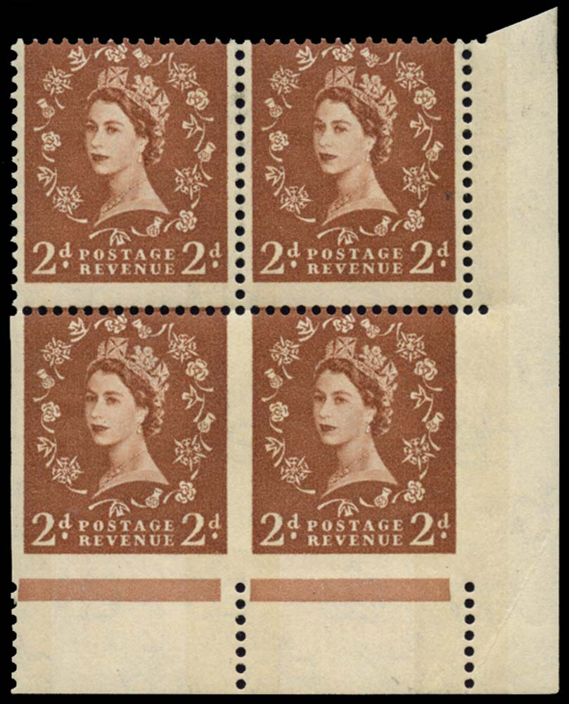 GB 1962  SG613aa Mint - imperf three sides