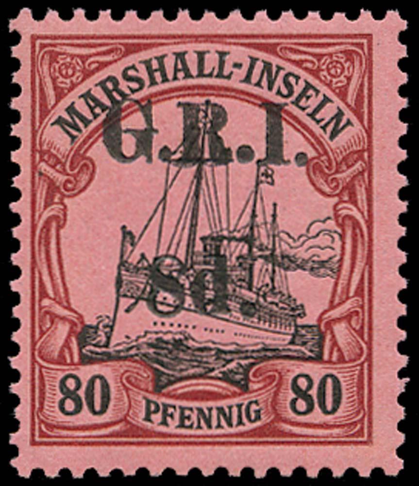 NEW GUINEA 1914  SG58 Mint 8d on 80pf setting II pos.1