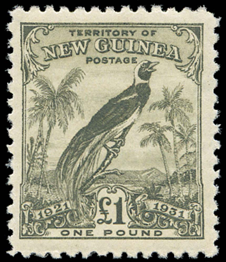 NEW GUINEA 1931  SG162 Mint Bird of Paradise £1 olive-grey