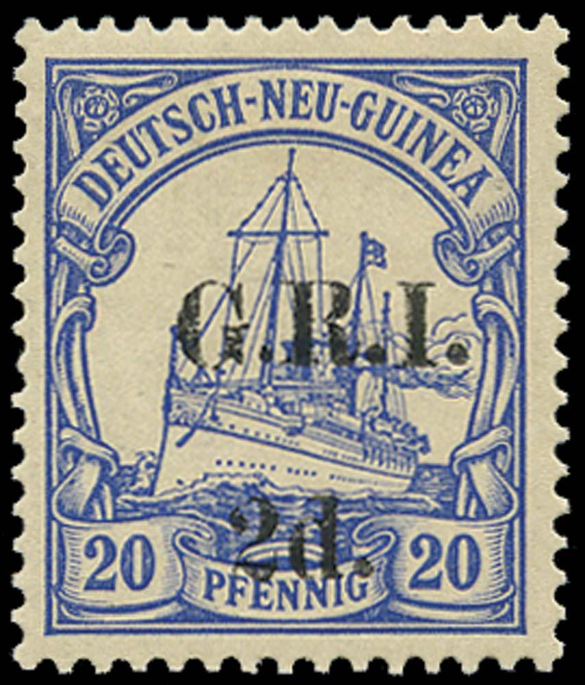 NEW GUINEA 1914  SG19 Mint 2d on 20pf setting II pos.4