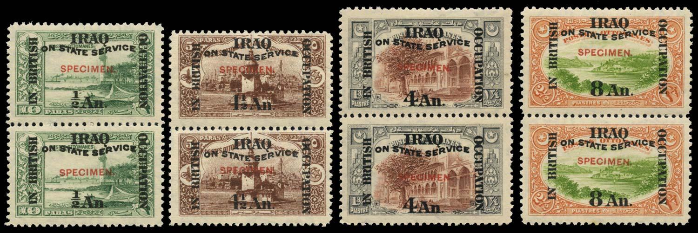 IRAQ BRIT OCC 1920  SGO33s, 35/6s, 38s Specimen
