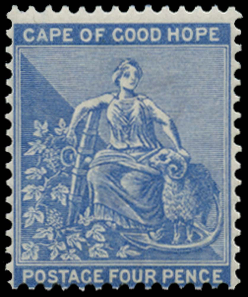 CAPE OF GOOD HOPE 1871  SG30 Mint 4d dull blue watermark CC unmounted mint