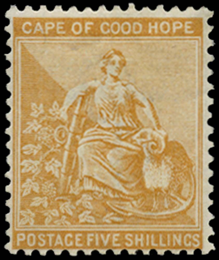 CAPE OF GOOD HOPE 1884  SG54 Mint 5s watermark Anchor