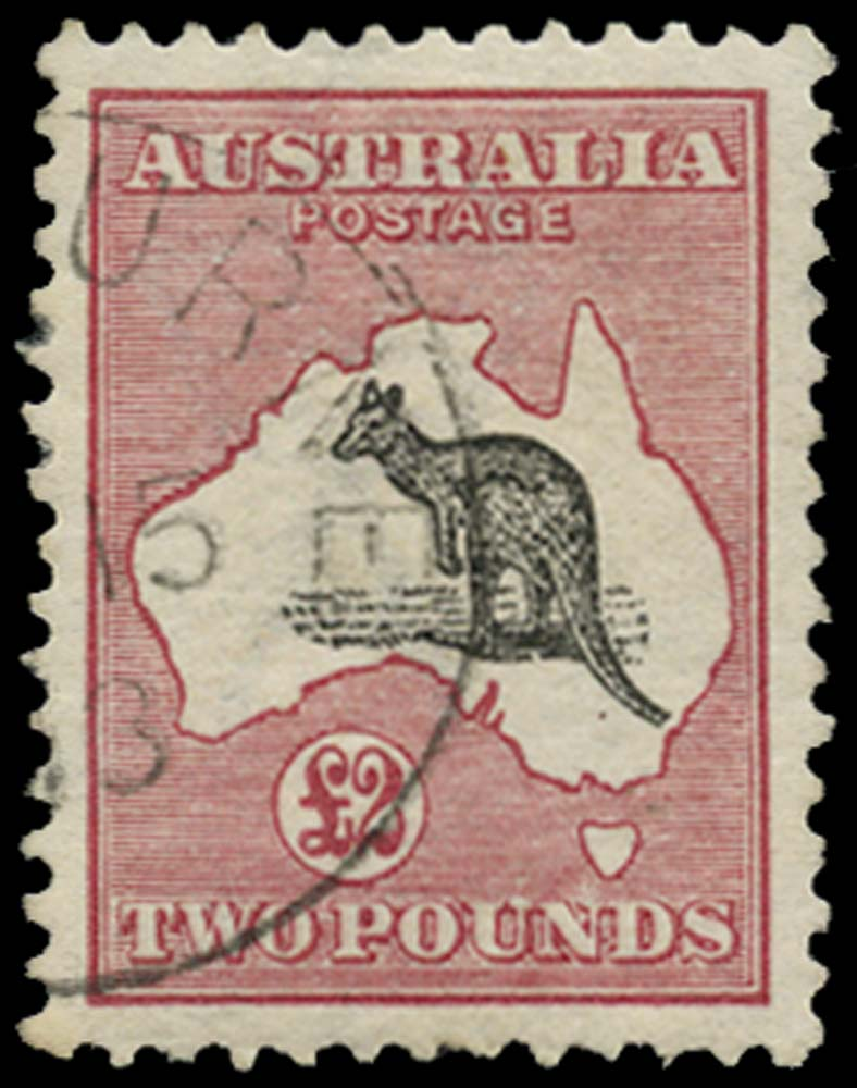 AUSTRALIA 1913  SG16 Used £2 black and rose watermark 2 c.t.o.