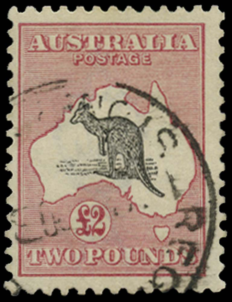 AUSTRALIA 1915  SG45 Used £2 black and rose watermark 6