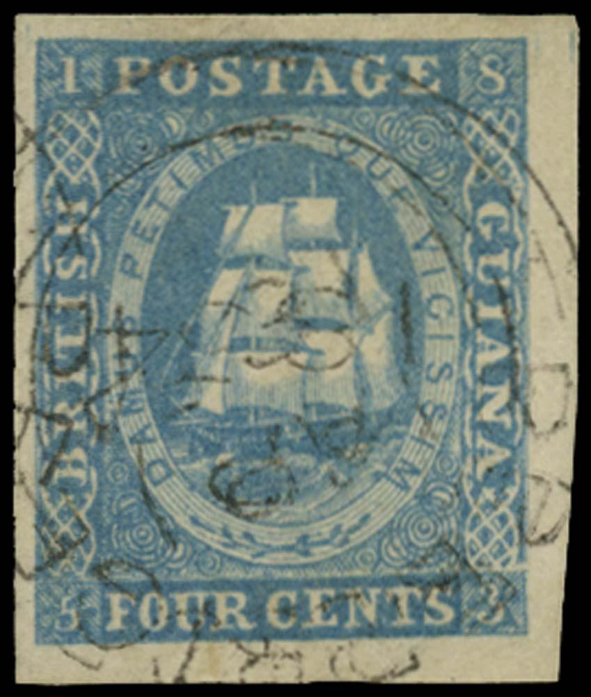 BRITISH GUIANA 1853  SG19 Used