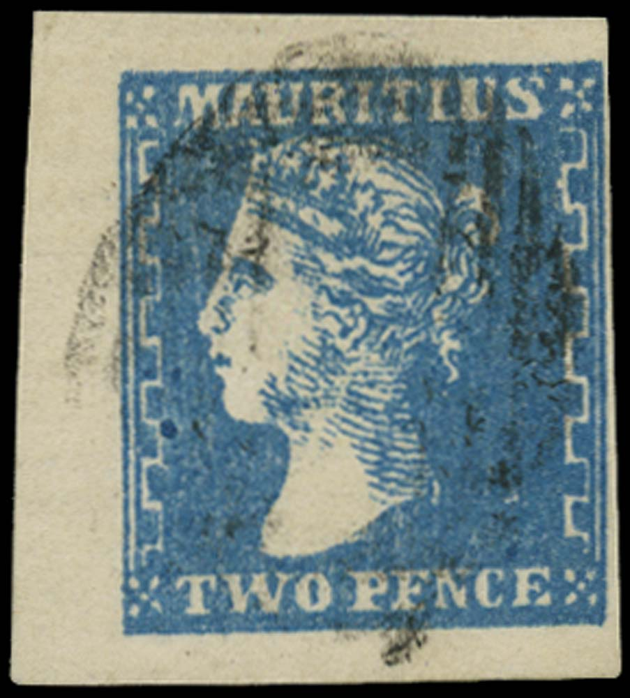 MAURITIUS 1859  SG43a Used Dardenne 2d blue