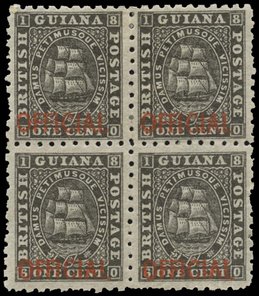 BRITISH GUIANA 1875  SGO1 Official