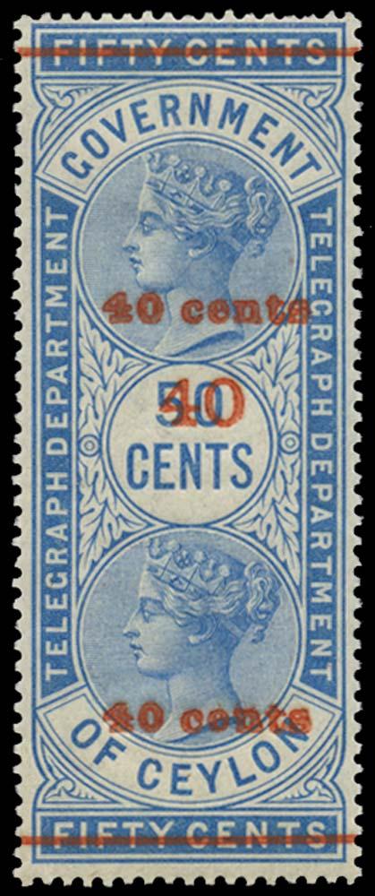 CEYLON 1882-94  SGT53 Telegraph