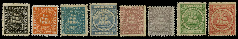 BRITISH GUIANA 1863  SG85/105 Mint