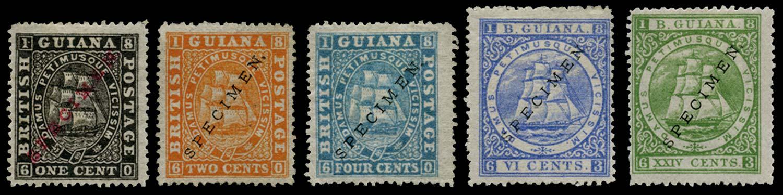 BRITISH GUIANA 1875  SG106/11, 114 Specimen