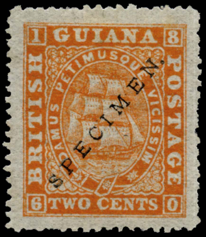 BRITISH GUIANA 1875  SG108 Specimen