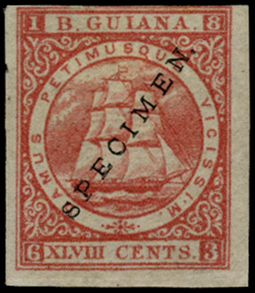 BRITISH GUIANA 1875  SG105var Specimen