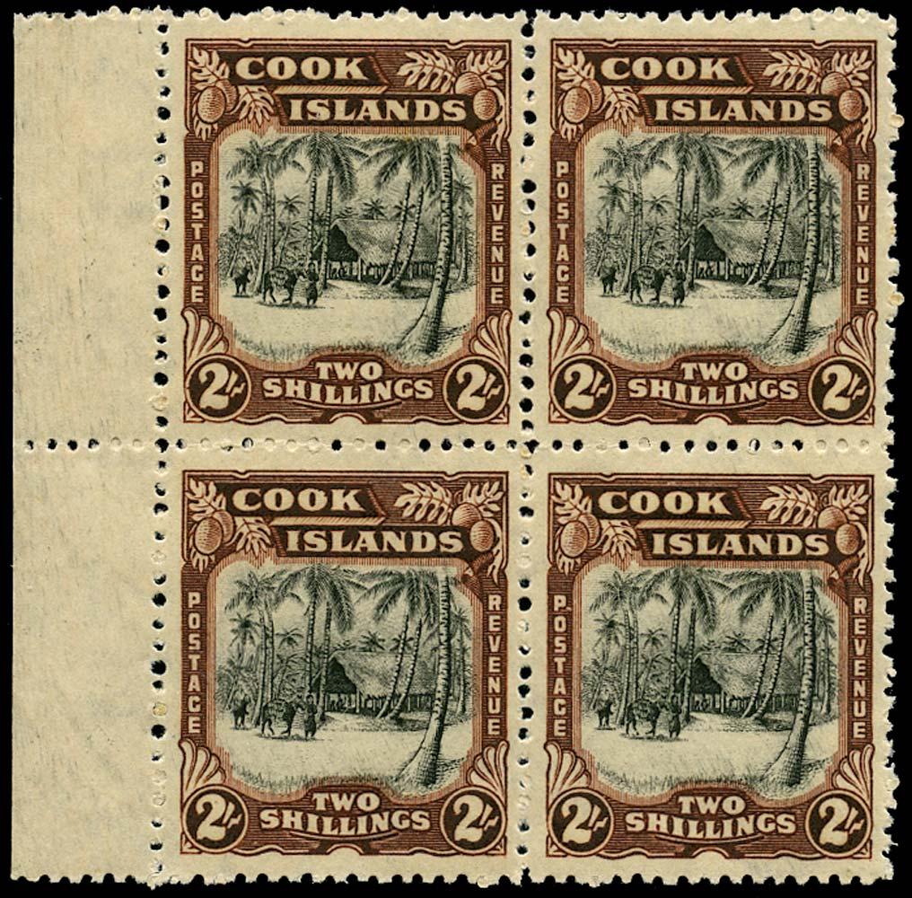 COOK ISLANDS 1945  SG144 Mint 2s black and red-brown wmk 98 unmounted